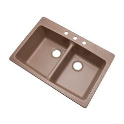 Mont Blanc Waterbrook 33 inch Double Bowl Natural Kitchen Sink