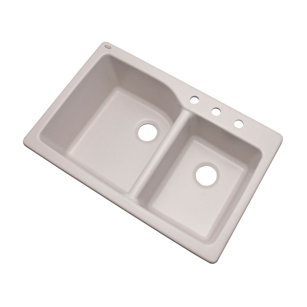 Kohler Wheatland 33 Inch X 22 Inch Top Mount Double Bowl