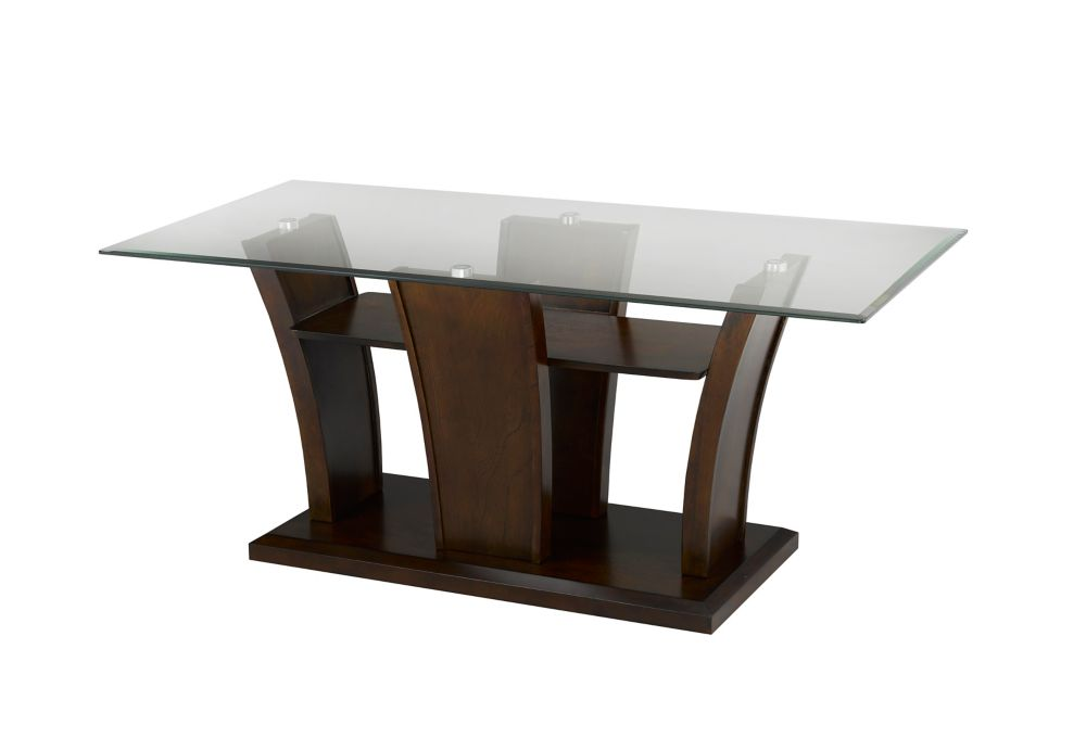 Brassex Inc. Ambrose Coffee Table, Dark Cherry