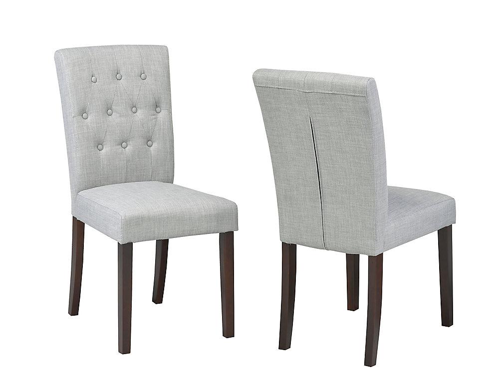 Chaise dappoint Brassex, ensemble 2 pièces, gris