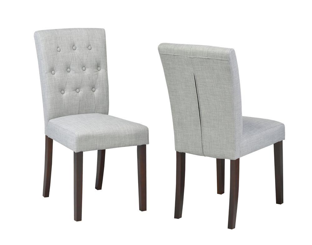 Brassex Inc. Side Chair, Set of 2 Grey