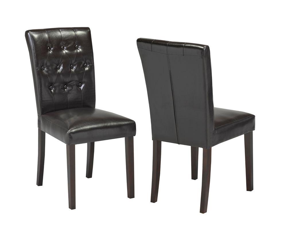 Brassex Inc. Side Chair, Set of 2, Espresso