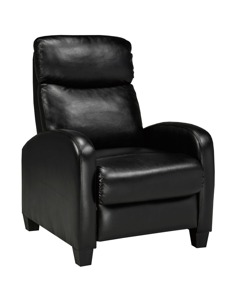 base leather dp and ac massaging ottoman recliner furniture chairs amazon flash chair com with black wrapped