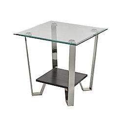 Brassex Inc. Avalon Side Table, Silver