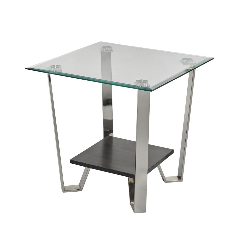 Brassex Inc. Avalon Side Table, Silver