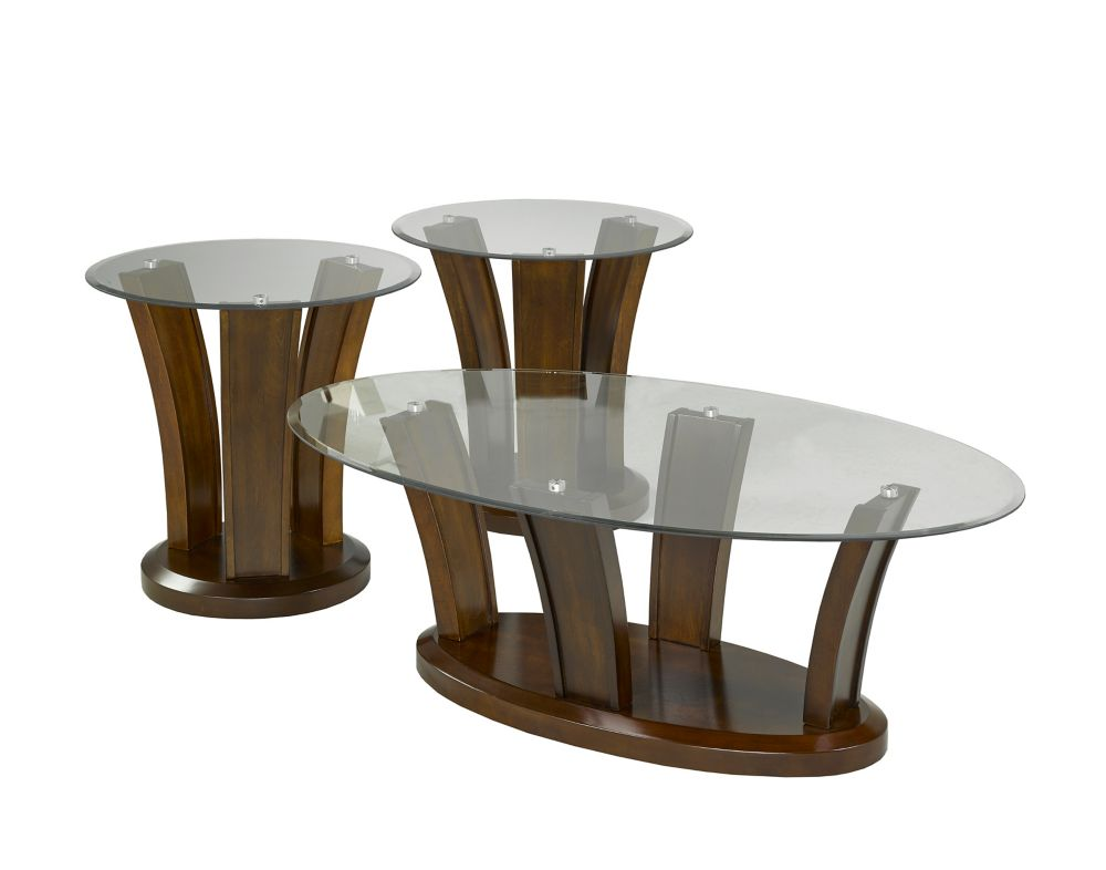 Brassex Inc. 3-Piece Coffee Table Set, Walnut