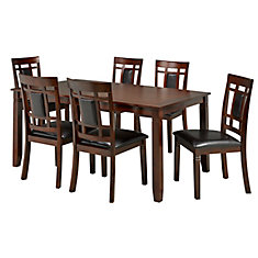 Aliya 7-Piece Dining Set in Walnut