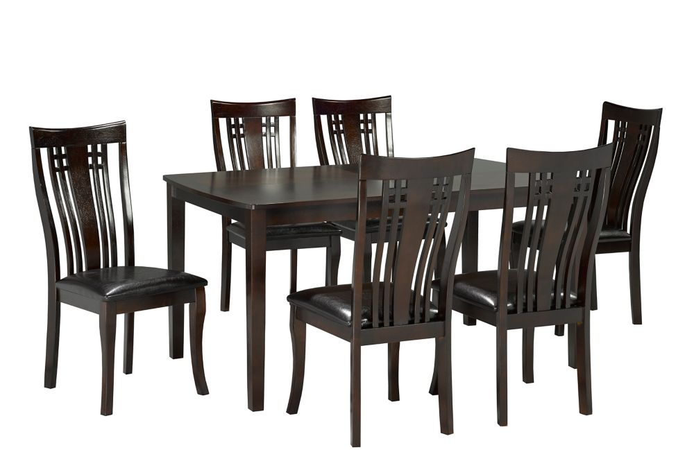 Brassex Inc Fairmont 7 Piece Kitchen Set Espresso