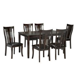 Brassex Inc. Fairmont 7-Piece Kitchen Set, Espresso