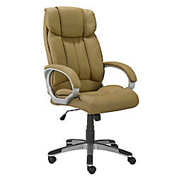 Brassex Inc. Office Chair with Gas Lift and Tilt Mechanism, Taupe