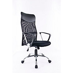Office Chair with Gas Lift and Tilt Mechanism, Black