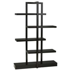 Brassex Inc. 5-Tier Display Shelf, Dark Cherry