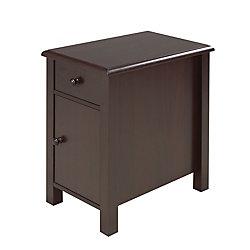 Brassex Inc. Telephone Stand with Storage Drawer and Storage Cabinet, Dark Cherry