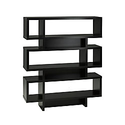 Brassex Inc. 3-Tier Display Shelf, Black