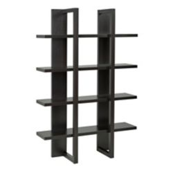 Brassex Inc. 4-Tier Display Shelf, Dark Cherry