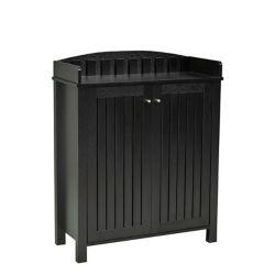 Brassex Inc. Shoe Cabinet, Black