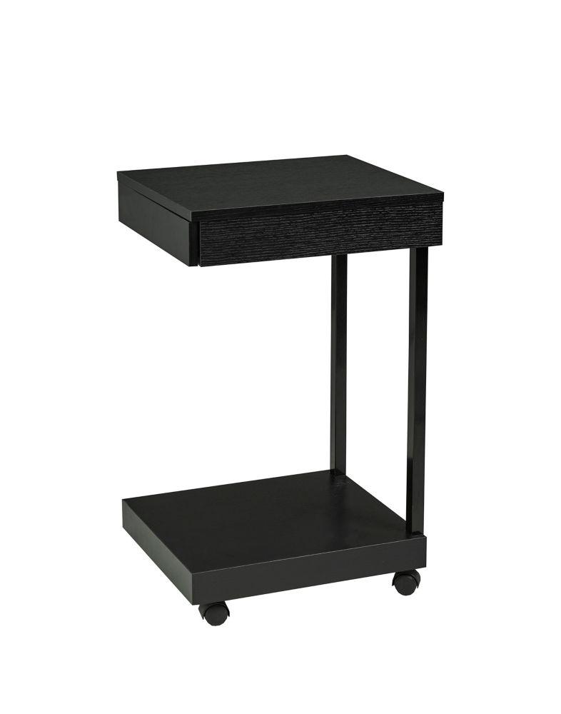Brassex Inc. Laptop Stand with Storage Drawer, Black