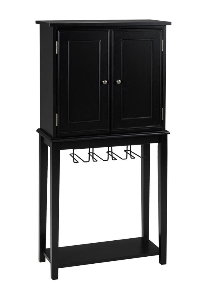 Brassex Inc. Bar Cabinet, Black