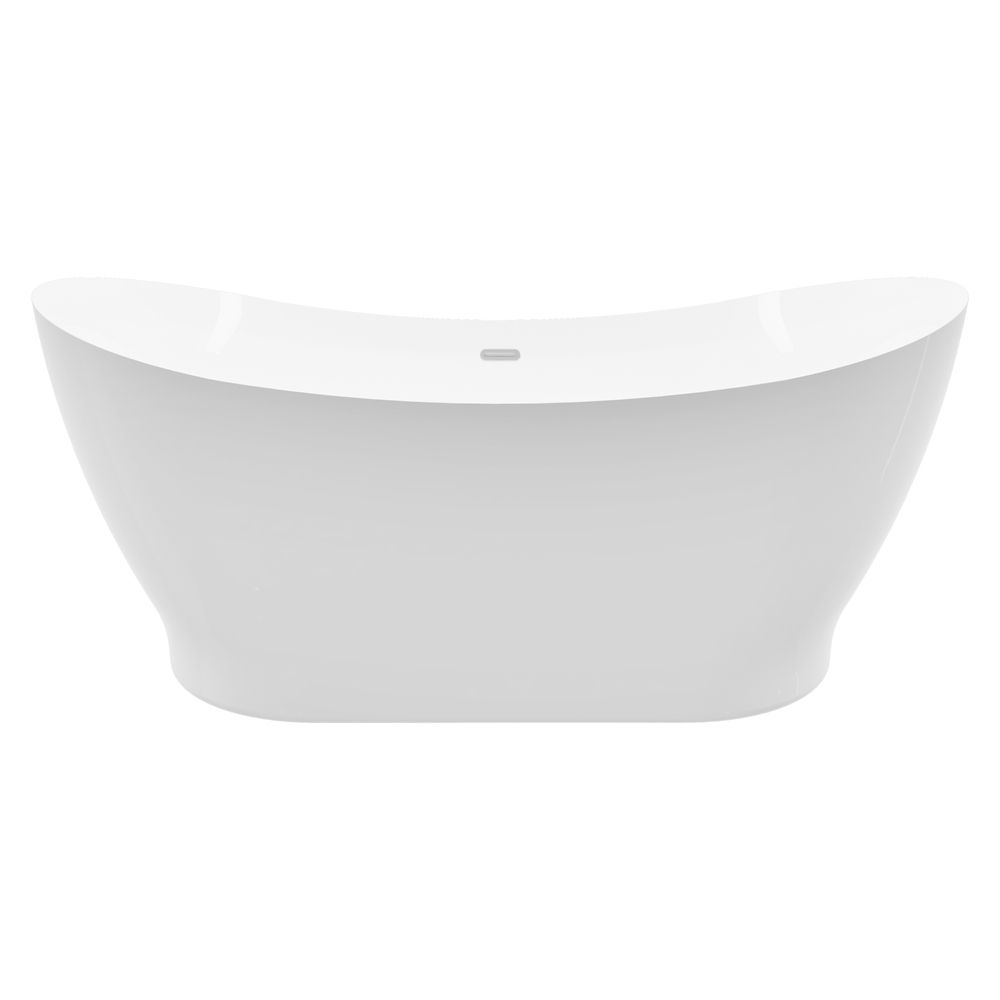 A&E Bath and Shower Polar white 66 inch Acrylic Freestanding Flatbottom Bathtub without faucet