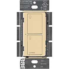 Caseta Wireless Smart Lighting Switch for All Bulb Types and Fans, Ivory
