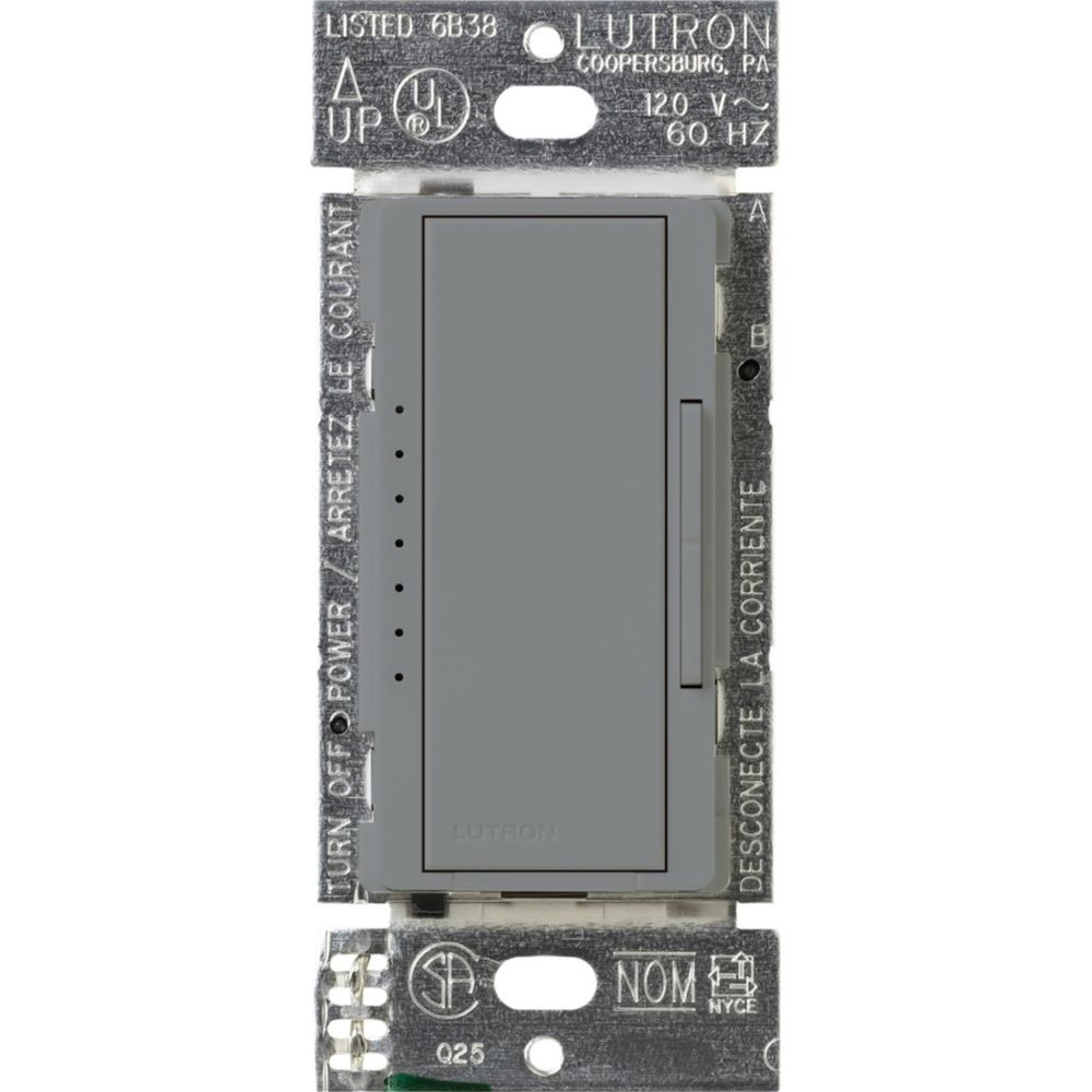 Maestro 150-Watt Single-Pole/3-Way/Multi-Location Digital LED/CFL Dimmer, Gray