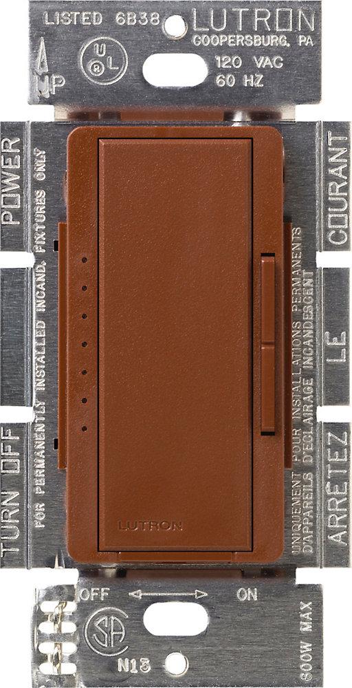 Maestro 150 Watts Unipolaire 3-Voies ou Gradateur Numérique Empl. Multiple AFC DEL, Sienna