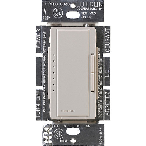 Maestro 150-Watt Single-Pole/3-Way/Multi-Location Digital LED/CFL Dimmer, Taupe