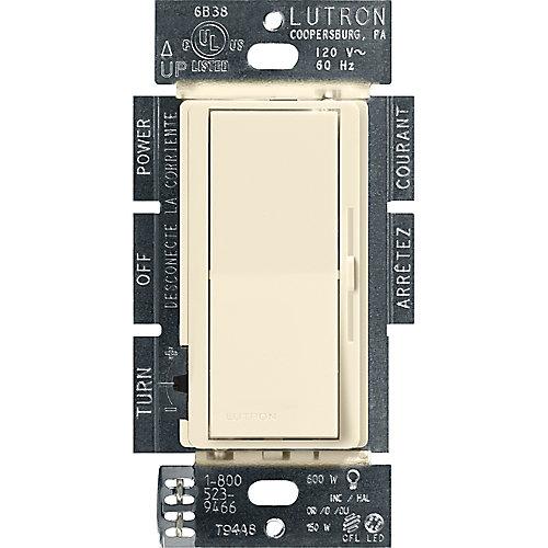 Diva 150-Watt Single Pole/3-Way LED/CFL Dimmer, Almond