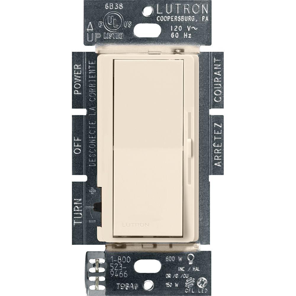 Lutron Diva 150-Watt Single Pole/3-Way LED/CFL Dimmer, Light Almond