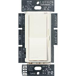 Lutron Diva 150-Watt Single Pole/3-Way LED/CFL Dimmer, Biscuit