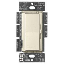 Lutron Diva 150-Watt Single Pole/3-Way LED/CFL Dimmer, Limestone