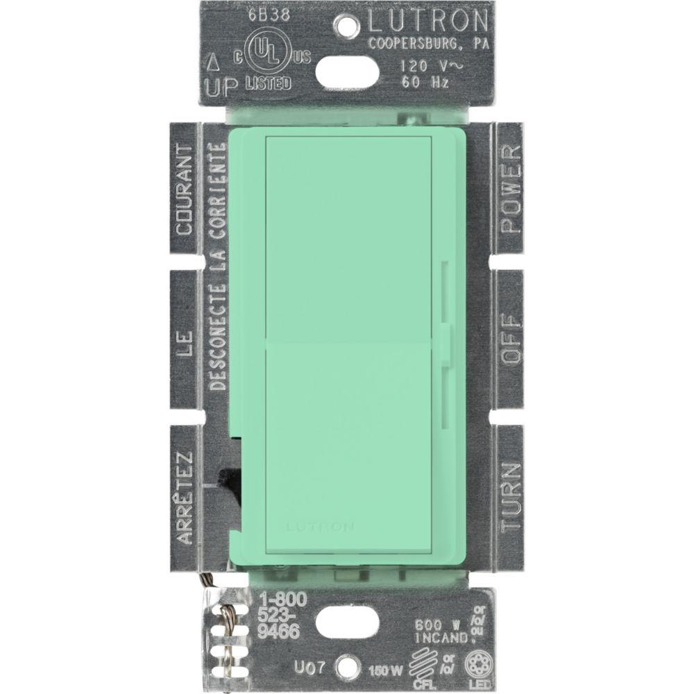 Lutron Diva 150-Watt Single Pole/3-Way LED/CFL Dimmer, Sea Glass