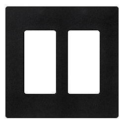 Lutron Claro 2 Gang wall plate, Midnight