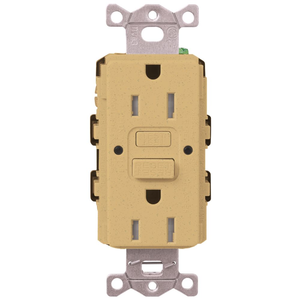 Decora 15 Amp Tamper Resistant Slim Gfci Receptacle Outlet With Wall Circuit Guard Ivory Hd Supply Lutron Claro Duplex