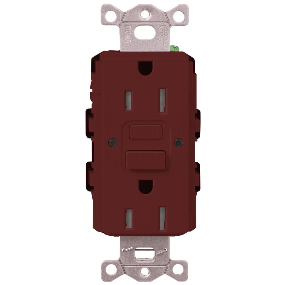 Decora 20 Amp Tamper Resistant Slim Gfci Receptacle Outlet With Wall Gfi 15 Tr Weather Pro Lutron Claro Duplex