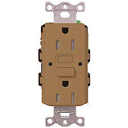 Lutron Claro 15-Amp Tamper-Resistant GFCI Duplex Receptacle, Terracotta