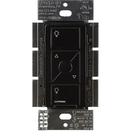 Lutron Caseta Wireless Smart Lighting Dimmer Switch for ELV+ Bulbs, Black