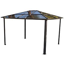 Corriveau Outdoor Furniture India 10 ft. x 12 ft. Polycarbonate Gazebo