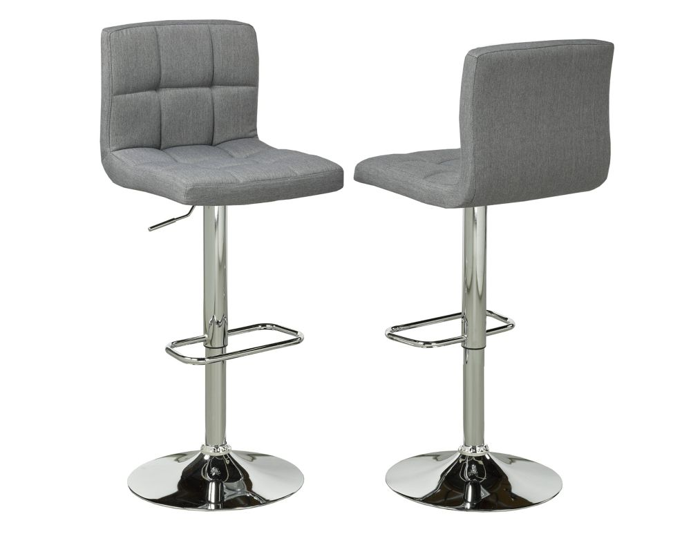 Adj.Bar Stool (Set Of 2), Grey