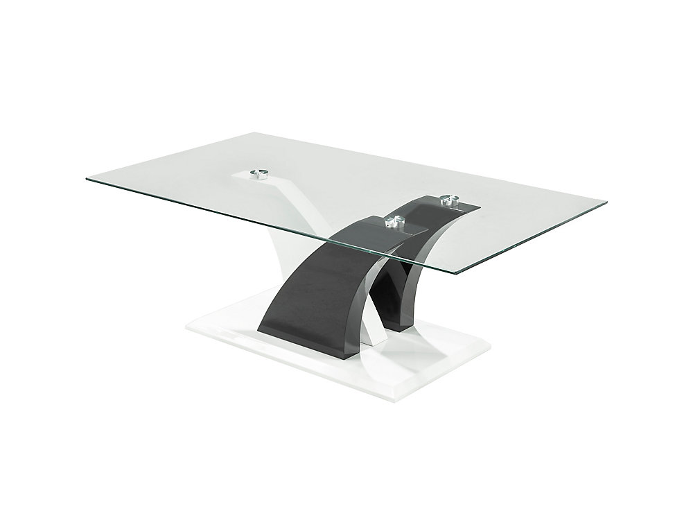 Cocktail Table, White/Black