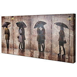 Art Maison Canada Midnight Stroll by Anastasia C. Original Painting on Wrapped Canvas