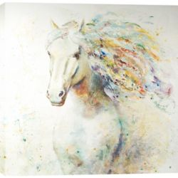 Art Maison Canada colourful Horse I by Anastasia C. Original Painting on Wrapped Canvas