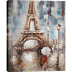 Art Maison Canada Eiffel Tower by Luna Original Painting on Wrapped Canvas