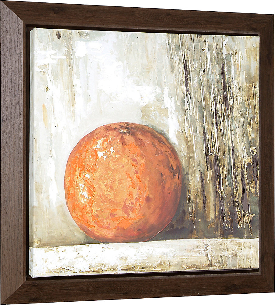 Orange by Tina O. Framed Original Painting on Wrapped Canvas