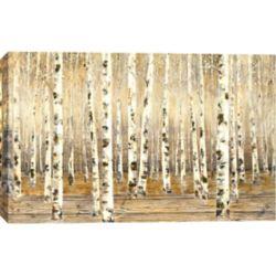 """Art Maison Canada H 40"""" x 60"""" W main peint paysage peinture acrylique par O. Tina sur toile enveloppé"""
