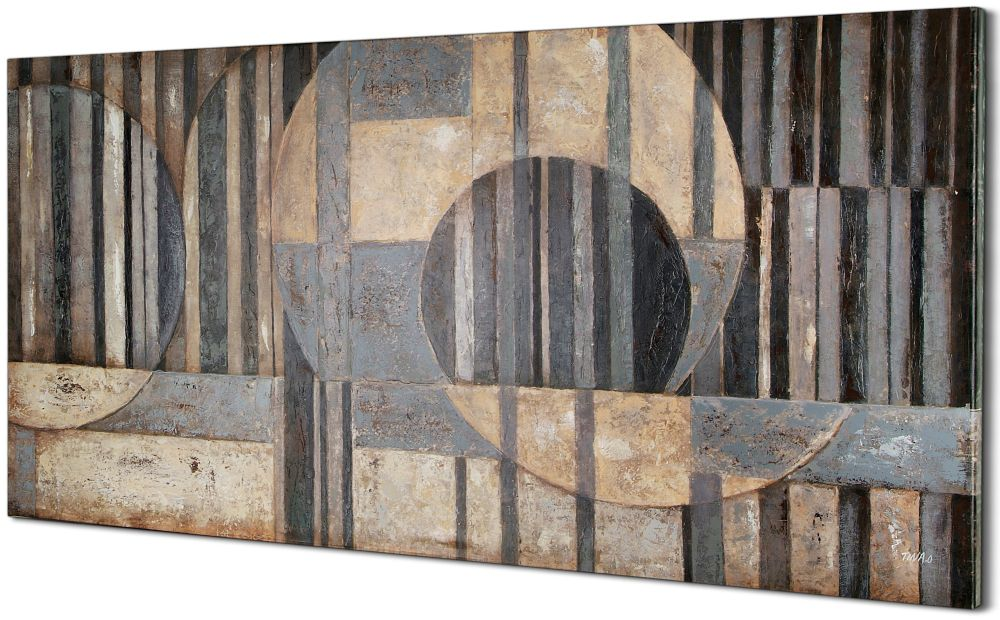 Abstract Sections by Tina O. Painting on Wrapped Canvas