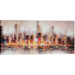 Art Maison Canada Warm City Shore by Luna Painting on Wrapped Canvas