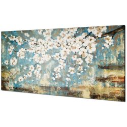 Art Maison Canada Blue Blossom by Tina O. Painting on Wrapped Canvas