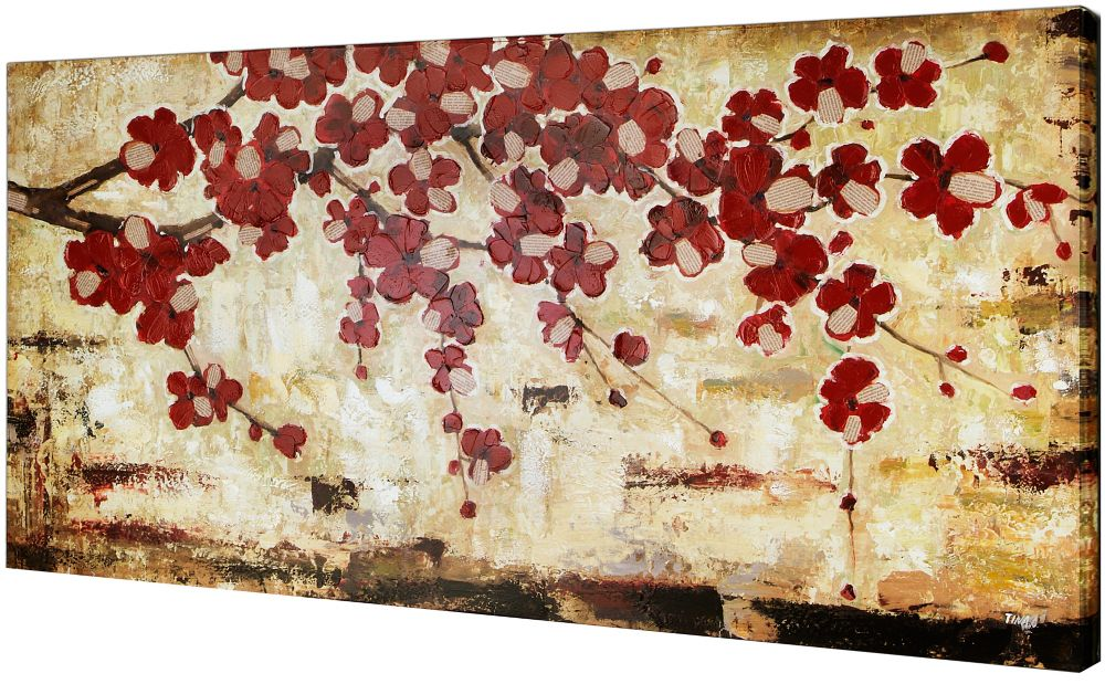 Art Maison Canada Red Blossom by Tina O. Painting on Wrapped Canvas