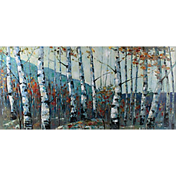 Art Maison Canada Autumn Birch Forest by I.Kite. Painting Print on Wrapped Canvas